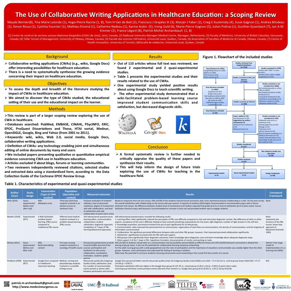 Collaborative Review Teaching : The st cochrane colloquium